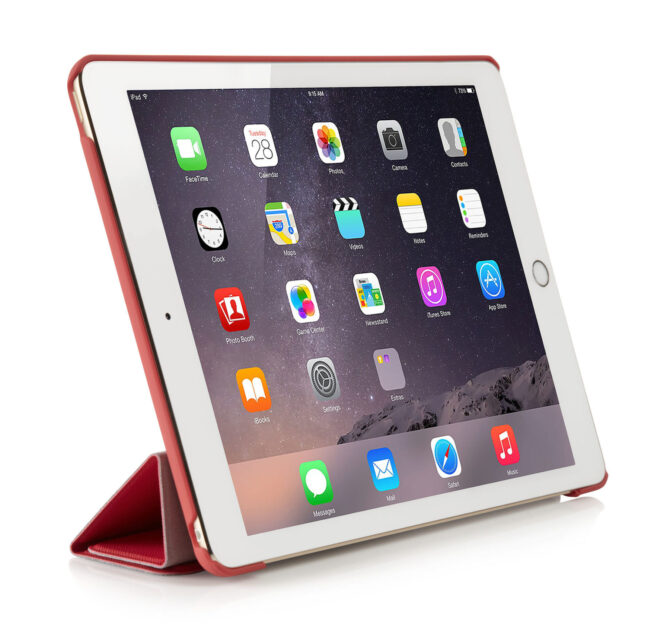 1406 ipad air case red front upright 1391 1406