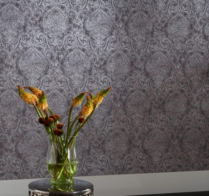 Ophelia Damask Wallpaper 72X62 V2