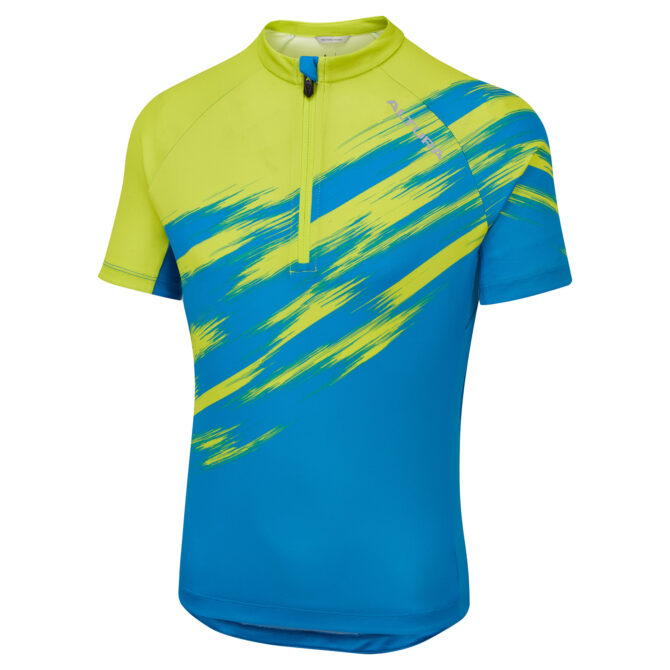 KIDS KIDS AIRSTREAM SHORT SLEEVE JERSEY BLUE LIME FRONT