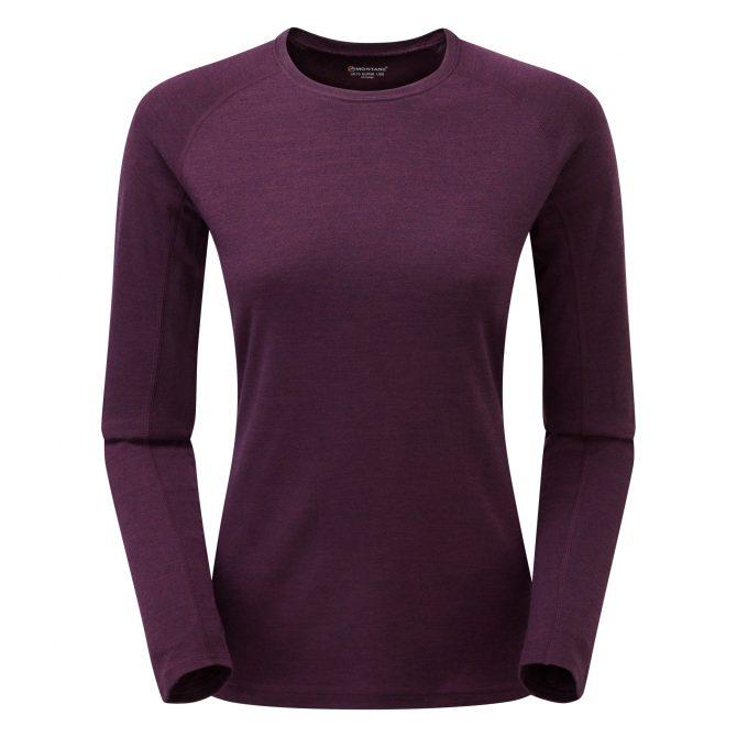 Womens Primino 220g Long Sleeve T Shirt Saskatoon berry