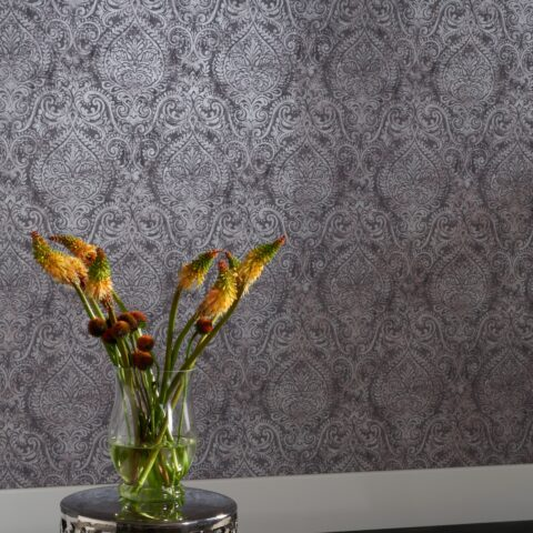 Ophelia Damask Wallpaper 72X62 V2 Sq