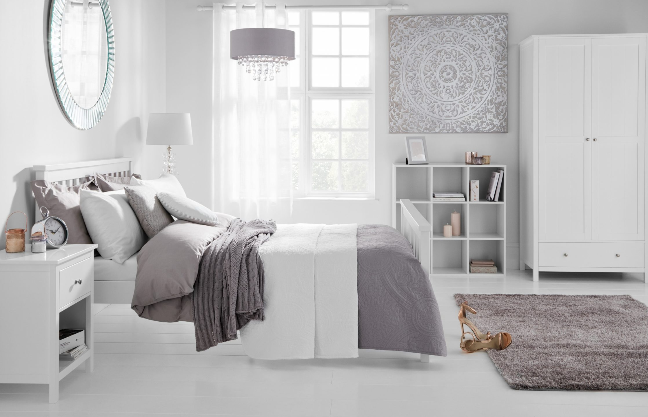 Set 2 White Bedroom 2B Side Shot Of Bed With Accessories Landscape