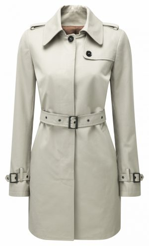 Womens Camel Trench Front